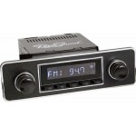 Retrosound Laguna Black Euro Classic Spindle Style Radio with Aux In