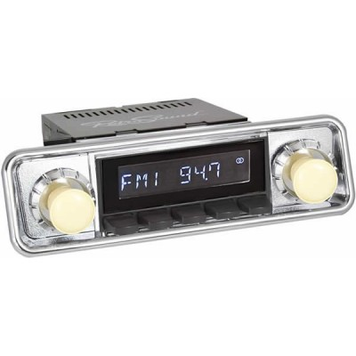 Retrosound Laguna Black Hooded Classic Spindle Style Radio with Aux In