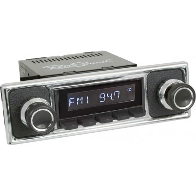 Retrosound Laguna Black Pebble Black Classic Spindle Style Radio Aux