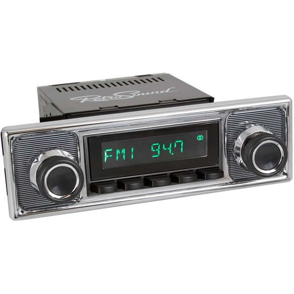Retrosound Hermosa Black Pinstripe Classic Spindle Style Radio with  Bluetooth