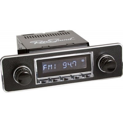 Retrosound Santa Barbara Chrome Euro Black & Chrome Classic Spindle Style DAB Radio with Bluetooth USB and Aux