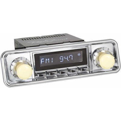 Retrosound Santa Barbara Chrome Hooded Classic Spindle Style DAB Radio with Bluetooth USB and Aux
