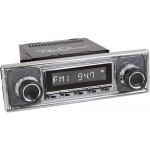 Retrosound Hermosa Chrome Becker Pinstripe Style Bluetooth USB Classic Radio