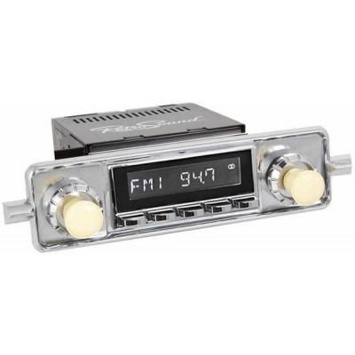 Retrosound Laguna Chrome Sapphire Classic Spindle Style Radio with Aux In