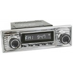 Retrosound Hermosa Chrome Scalloped Style Bluetooth USB Classic Radio