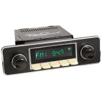 Retrosound Hermosa Ivory Euro Black & Chrome Bluetooth USB Classic Radio