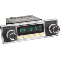 San Diego Classic DAB Car Radio Ivory Pebble Black Classic Spindle Style Radio with Bluetooth USB and Aux