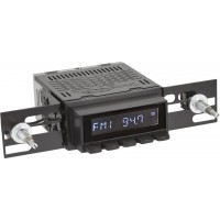 Retrosound Laguna Black Bare Classic Spindle Style Radio with Aux In