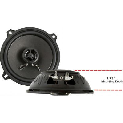 "Retrosound Pair of 5.25"" Coaxial Car Speakers 80w R-525N"