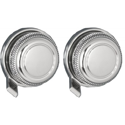 Chrome Metal Large Front and Large Chrome Lugged Rear Knob Set #03 #73