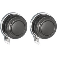 Large Black Metal Front and Large Chrome Lugged Rear Knob Set #33 + #73