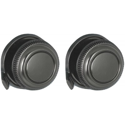 Black Front and Black Rear Lugged Knob Set #33 #93