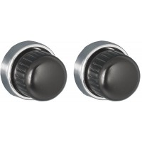 Euro Black Metal Front and Euro Chrome Rear Knob Set #36 + #76