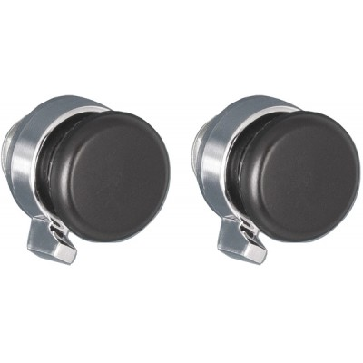 Black Plastic Front and Black Rear Knob Set #40 #80