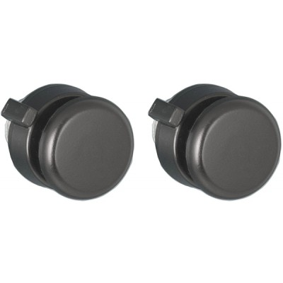 Black Plastic Flat Top Front and Black Rear Knob Set #40 #90