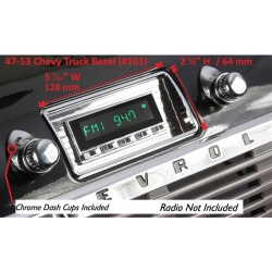 Retrosound Chevrolet Truck 47-53 Kit with Bezel and Knobs (#101+253+06+76)