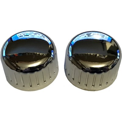 Chrome Metal Front Knob Set - Pair (#06)