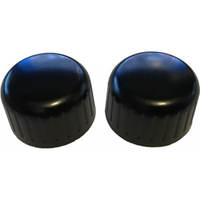 Black Metal Front Knob Set - Pair (#36)