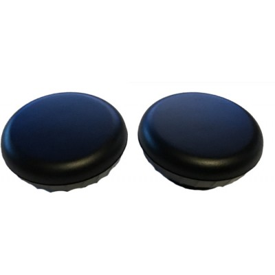 Black Plastic Front Knob Set - Pair (#40)