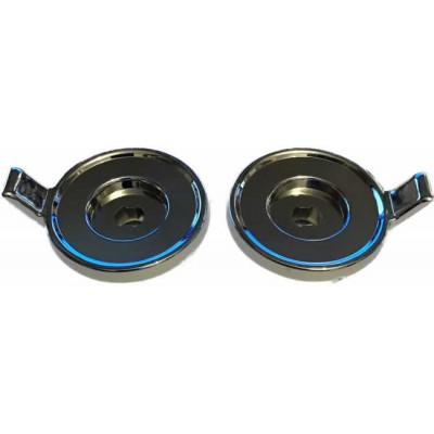Chrome Metal Lug Type Rear Knob Set - Pair (#73)