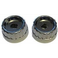 Chrome Metal Rear Knob Set - Pair (#74)