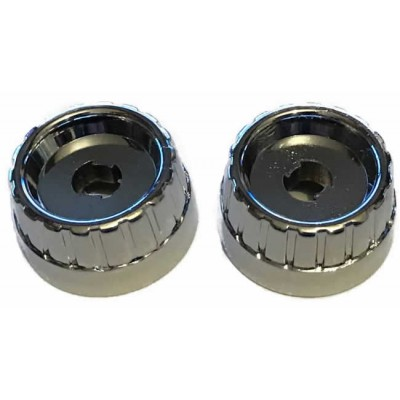 Chrome Metal Rear Knob Set - Pair (#74)