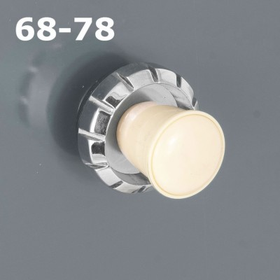 Ivory and Chrome Knobs (#68+78)