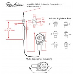 Retrosound PA-04 Fully Automatic Power AM/FM Antenna with Remote Motor