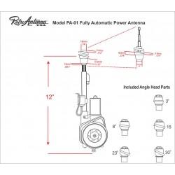 Retrosound Universal Electric Automatic AM/FM Antenna PA-01