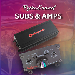 Subs and Amps from RetroCarStuff.com