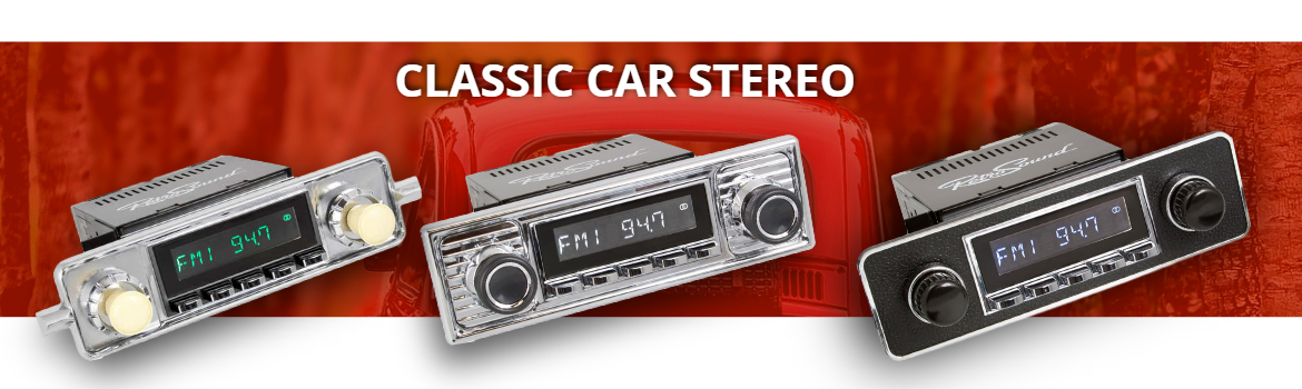 Classic Car Stereo From RetroCarStuff.com
