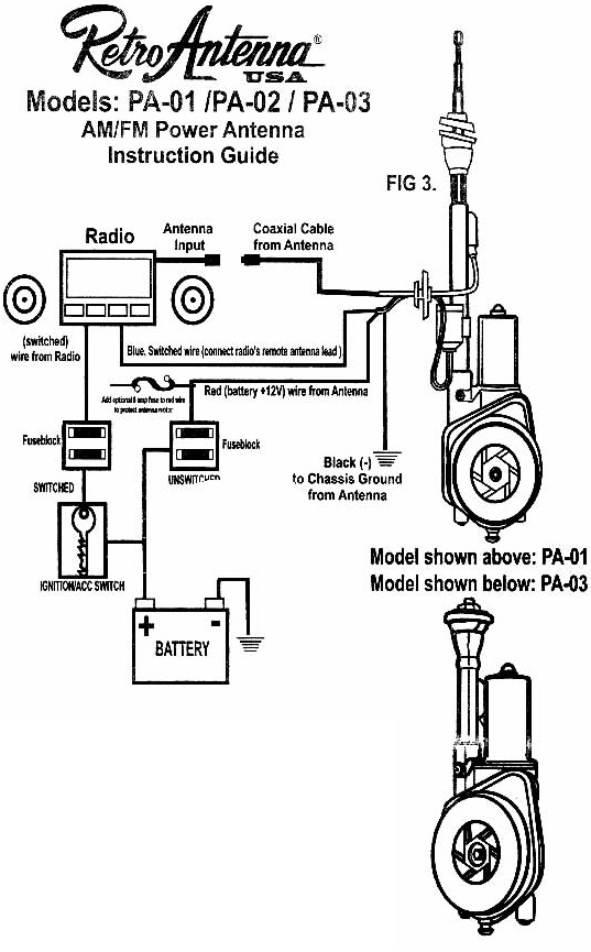 ford power antenna schematic tips for installing an electric telescopic  powered  antenna  installing an electric telescopic