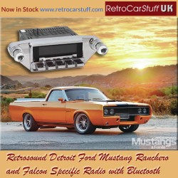 Retrosound Detroit Ford Mustang Ranchero and Falcon Specific DAB Radio with Bluetooth