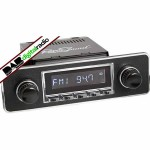 San Diego Classic DAB Car Radio Chrome Euro Black & Chrome Classic Spindle Style Radio with Bluetooth USB and Aux