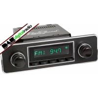San Diego Classic DAB Car Radio Black Euro Classic Style Radio Bluetooth AUX USB