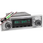 San Diego Classic DAB Car Radio Black Scalloped Classic Spindle Style Radio with Bluetooth USB and Aux