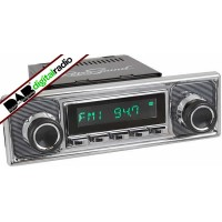 San Diego Classic DAB Car Radio Chrome Pinstripe Classic Radio with Bluetooth USB
