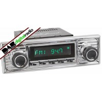 San Diego Classic DAB Car Radio Chrome Scalloped Style Radio Bluetooth USB Aux