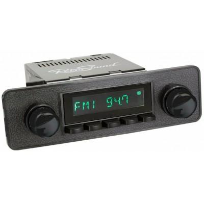 San Diego Classic DAB Car Radio All Black Euro Classic Style Radio Bluetooth AUX USB