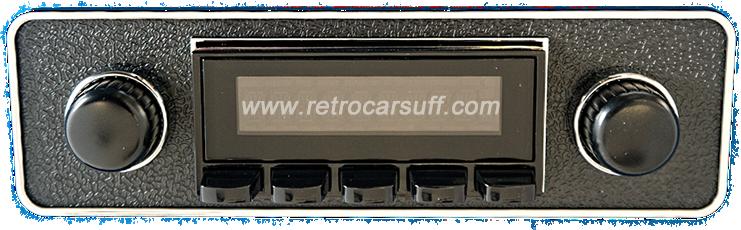 image of San Diego Classic DAB Car Radio Black Euro Classic Style Radio Bluetooth AUX USB