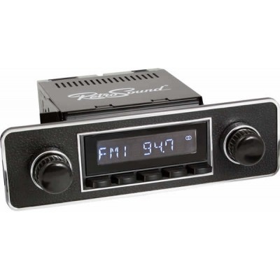 Retrosound Hermosa Black Euro Black & Chrome Classic Radio with Bluetooth