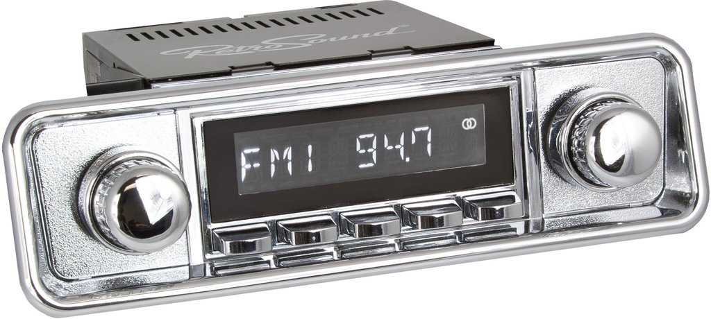 San Diego Classic DAB Car Radio Chrome Hooded Classic Spindle Style Radio