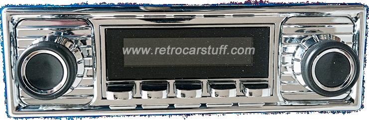San Diego Classic DAB Car Radio Chrome Scalloped Style Radio
