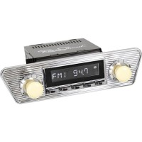 Retrosound Santa Barbara Karmann Style Classic Spindle Style DAB Radio with Bluetooth USB and Aux