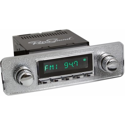 Retrosound Santa Barbara Chrome Euro All Chrome Classic Spindle Style DAB Radio with Bluetooth USB and Aux