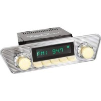 San Diego Classic DAB Car Radio Ivory Karmann Ghia Classic Style Radio Bluetooth