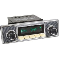 San Diego Classic DAB Car Radio Ivory Pinstripe Classic Spindle Style Radio with Bluetooth USB and Aux