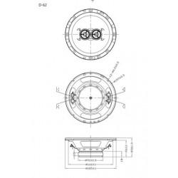 "Retrosound Single 6.5"" 30w Dual Voice Coil Dash Speaker - D-62"