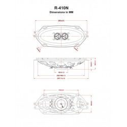 """Retrosound Single 4x10"""" with Grille Dual Voice Coil Dash Speaker - R410N+GRILLE"""