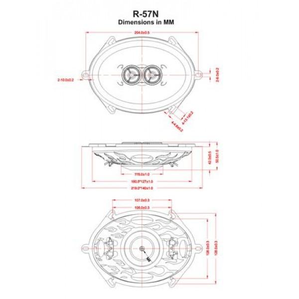 Retrosound Single 5x7 Dual Voice Coil Dash Speaker R57n R57n on Retrosound Retro Classic Radio